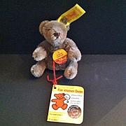 SOLD Vintage Steiff Miniature Teddy Bear, Grey