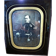 A Rare Antique Original Half-Plate Daguerrotype of a French Naval Admiral, CA.1840's