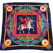 """A Rare Vintage Hermes Silk Scarf, """"Feux Artifice"""" (Fireworks!), 1987 Special Edition"""