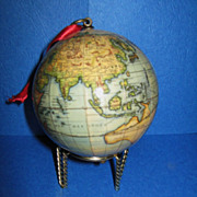 "Contemporary  Edition of the French ""1745 Globe Terrestre"", Miniature Size"