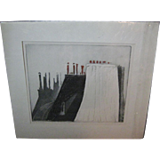 """SALE Original Etching """"Toits a Paris, 1967, by Mario Micossi"""