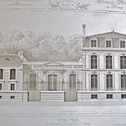SALE Original Antique Architectural Steel Engravings,by  M.Cesar Daly, Paris 1862-1864
