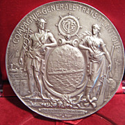 "A Large French Sterling Medallion, ""Compagnie Generale Transatlantique"","