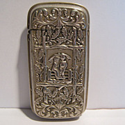 SALE A Rare Antique Matchsafe, Kate Greenaway Motif, CA.1890