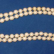 Vintage Chanel 1981 Long Single Strand Sautoir Pearl Necklace