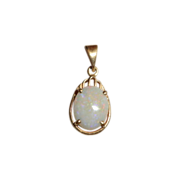 Vermeil (Gold over Sterling) Opal Pendant/Charm
