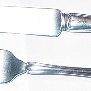 1909 Tiffany & Co. Winthrop Youth/Child Knife & Fork with Tiffany Felt Holder