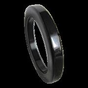 SALE Art Deco Black Bakelite Thick Slice Geometric Edge Bangle