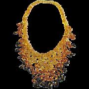 SALE Vintage Baltic Amber Graduated Chip Golden Transparent & Honey & Cognac bead 40 Grams ...