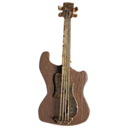 SALE Vintage Wooden Electric Guitar Pin 2 for 1 OFFER