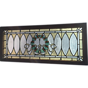 SOLD Twenty tiny jewels in the late 19th - early 20th century stained glass window
