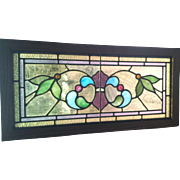 SOLD Four Victorian stained glass transom