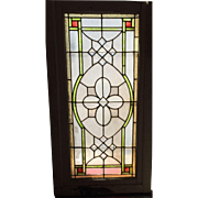 SOLD Large stained glass panel for front door