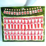 Bradford 1960s Santa Card Line Christmas Cards Hanging Display Mint