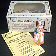 Pink Baby Doll With Tree Inge Glass Christmas Ornament Mint in Box