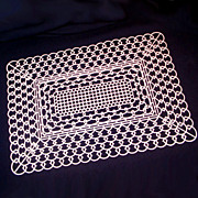 4 Lustro Ware Pink Plastic Lace Doily Placemats