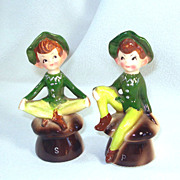1950s Enesco Kitchen Pixie Salt and Pepper Shakers