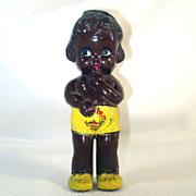 Black Americana Hard Plastic Baby Doll Rattle Canada Souvenir