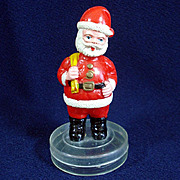1960s Plastic Santa Claus Christmas Candy or Gift Container