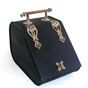 Victorian Metal Coal Box Bin Scuttle With Bronze Hardware