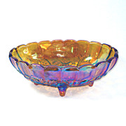 Indiana Carnival Glass Large Oval Fruit Centerpiece Bowl