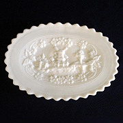 Imperial Windmill Milk Glass Dresser Tray