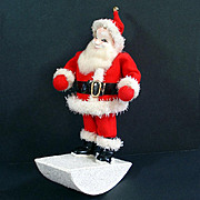 Composition Rocking Santa Claus Christmas Figure