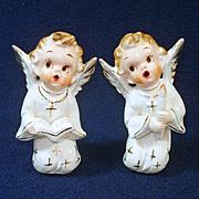 Japan Christmas Singing Choir Girl Boy Figurines