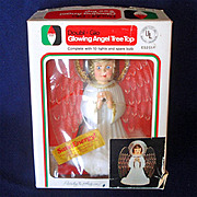 Italian Sugared Angels 1960s Boxed Christmas Light Set