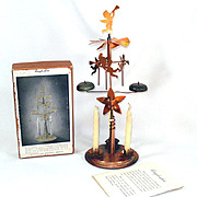 Angel-Abra Copper Christmas Angel Chimes Holt Howard