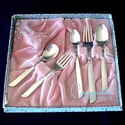 Set 3 Pink White Green Layered Rose Crochet Doilies