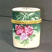 Baum Bros. Formalities Porcelain Roses Hinged Trinket Box