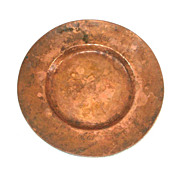 SOLD Small Hammered Copper 1955 Rotary Ann Plate