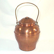 SOLD Copper Tea Caddy Ginger Jar Shape
