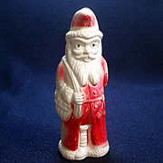 Irwin Celluloid Belsnickle Santa With Doll Christmas Figure Toy