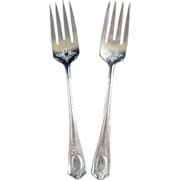 Louis XVI Oneida 1911 Silverplate 2 Salad Forks