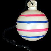 Patriotic Stripes Unsilvered Christmas War Ornament Paper Cap