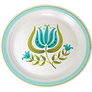 SOLD Franciscan Tulip Time Dinner Plates, 5 Available