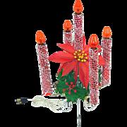 Mirostar Mesh 5 Light Christmas Electric Candle Centerpiece