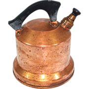 SOLD West Bend 1930s Whistling Copper Tea Kettle