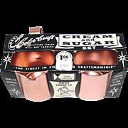 Color Craft Pink Aluminum Creamer Sugar Set Mint in Box