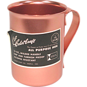 Color Craft Pink Aluminum Mug Mint With Label