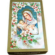 Our Blessed Mother Box 1950s Religious Christmas Cards