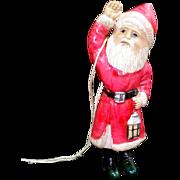 Celluloid Santa Claus With Lantern Christmas Figure