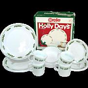 SOLD Corelle Holly Days Christmas 16 Piece Dinnerware Set in Original Box