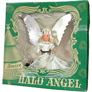 1940s Amico Noma Composition Face Halo Angel Tree Topper