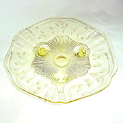 Lancaster Kay Topaz Yellow Depression Glass Orange Bowl