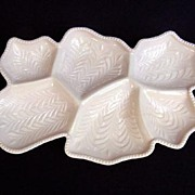 REDUCED Jeannette Shell Pink 6-Part Venetian Divided Relish Tray
