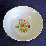Chinex Flower Bouquet Serving or Vegetable Bowl