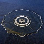 Cambridge Martha Crystal Cake Plate